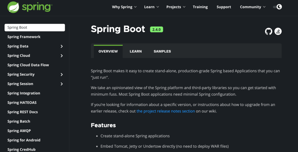 SpringBoot 1024x522 - Top 5 Backend Frameworks (2021)