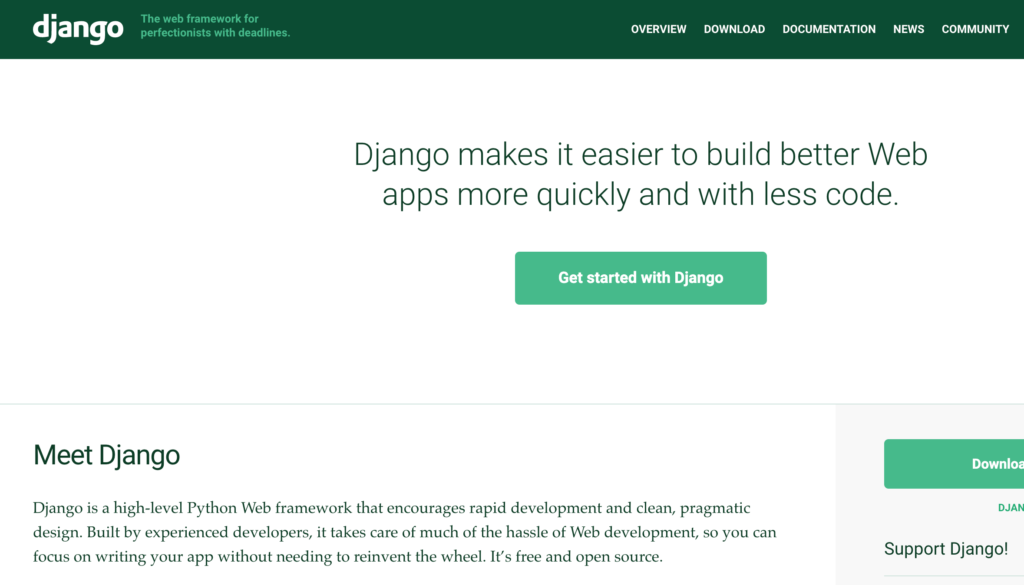 django 1024x585 - Top 5 Backend Frameworks (2021)