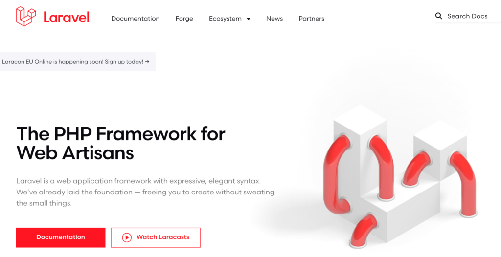 laravel 1024x526 - Top 5 Backend Frameworks (2021)