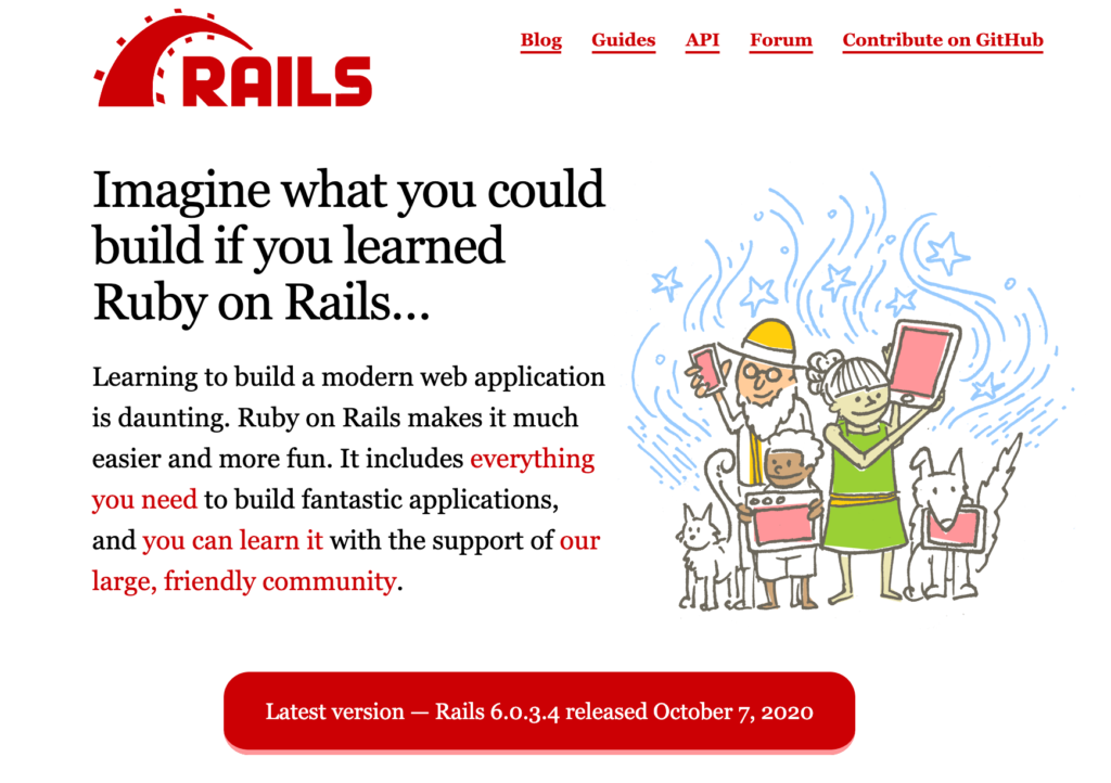 rubyonrails 1024x722 - Top 5 Backend Frameworks (2021)